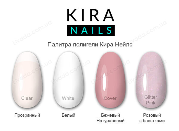 Акрил гель полигель Kira Nails палитра