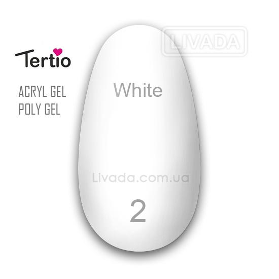 Акрил гель полигель Tertio белый №02 30 мл